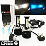 MOTORCYCLE (2 COLOR IN 1 SET) H4 9003 HB2 10000K Blue 6000K White (High/Low Beam) CREE COB LED Xenon Kit 8000 LM 80W USA