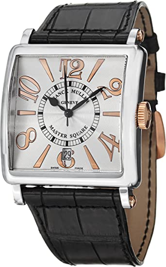 Franck Muller Master Square Date Stainless Steel Automatic Watch 6000 H SC DT REL V ST GT