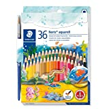 Staedtler Watercolor Pencils, Box of 36 Colors (14410ND36) (Color: Blue)