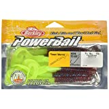 PowerBait Power Worms (Color: Plum/Chartreuse, Tamaño: 7-Inch)