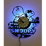 NICE STUFF ONLY Peanuts Snoopy Wall Lamp, Night Light Function, Original Decor, Idea for His and Her (Color: Black, Tamaño: 12