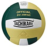 Tachikara Sensi-Tec Composite High Performance Volleyball (Dark Green/White/Vegas Gold)