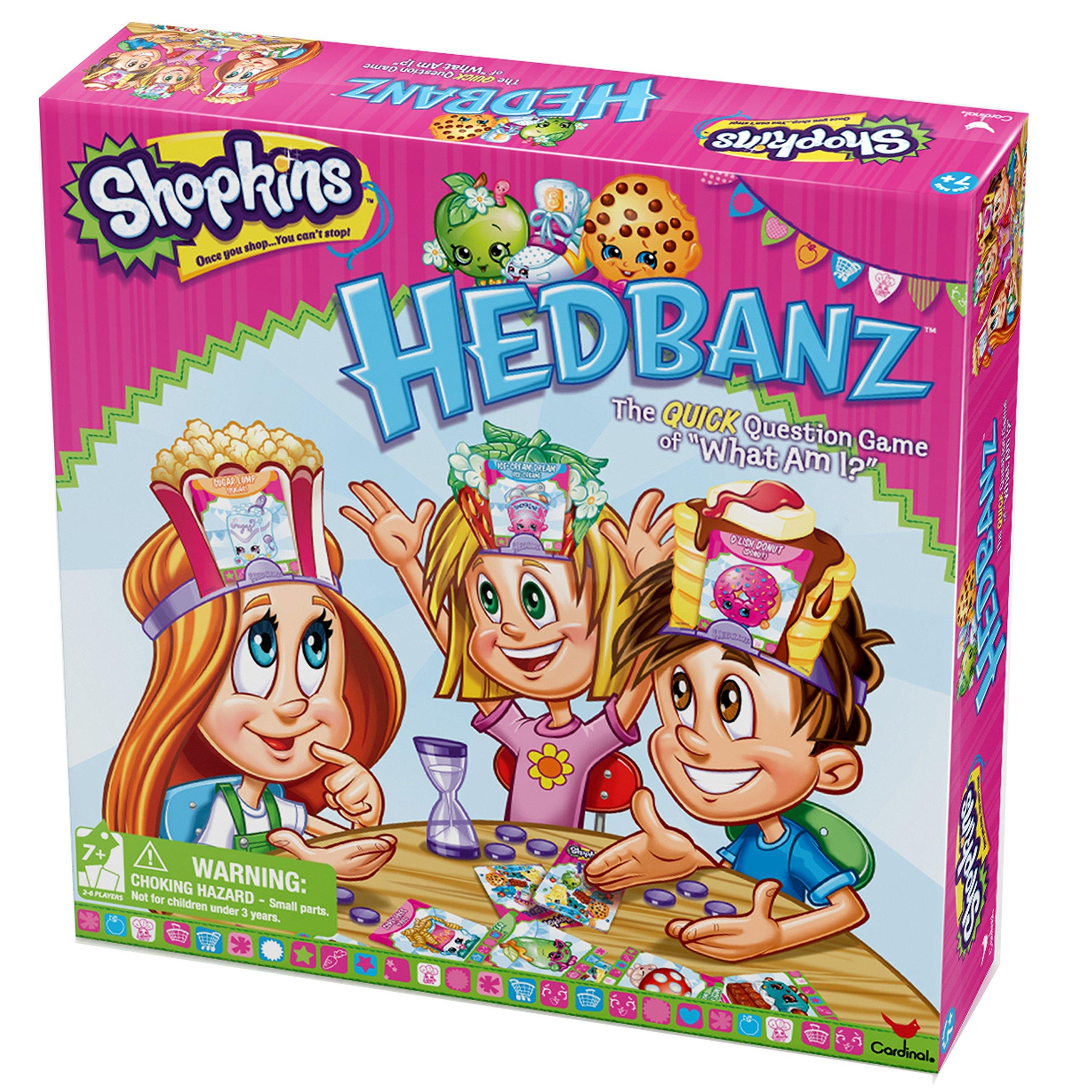 Board Games Toy : Shopkins hedbanz board game fun kids girls toy new