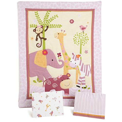 Bedtime Originals Lil Friends 3 Piece Crib Bedding Set Lavender/Pink