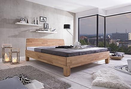 woodlive Rivo letto in legno di faggio naturale oliato naturale 200X 200