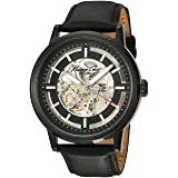 Kenneth Cole New York Men's KC1632 Skeleton Dial Automatic Analog Leather Strap Watch (Color: Black)