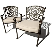 Image of Cast-Aluminum Deep-Seating Arm Chairs