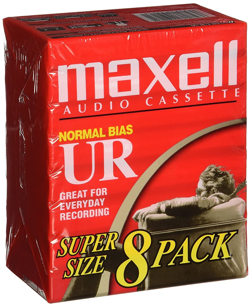 Maxell UR-60 Blank Audio Cassette Tape - 8 Pack (109085) 0