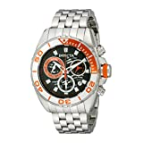 Invicta Men's 14726 Pro Diver Analog Display Swiss Quartz Silver Watch (Color: Silver-Tone/Black, Tamaño: Standard)