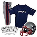 Franklin Sports Deluxe NFL-Style Youth Uniform – NFL Kids Helmet, Jersey, Pants, Chinstrap and Iron on Numbers Included – Football Costume for Boys and Girls (Color: New England Patriots, Tamaño: Medium)