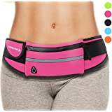 Waist Pack Best Running Belt Fanny Pouch Waistband Holder Case (Pink ) Christmas Gifts 2017 Presents for Women Mom Girls Her Ladies Wife Sister Aunts Aunty Teens Workout Stocking Stuffers Ideas Xmas (Color: Pink)