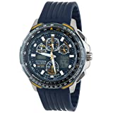Citizen Men's JY0064-00L Eco-Drive Blue Angels Skyhawk A-T Chronograph Rubber Strap Watch