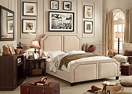 Millbury Home Sanibel Beige Upholstery Bed (Queen Size)