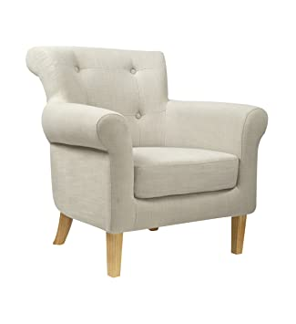 Shankar UK Pittsburgh Fabric Armchair, 78 x 78 x 76 cm, Light Grey