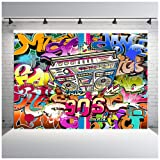 7x5ft 90th Graffiti Photography Backdrop Vinyl Hip Hop Photo Studio Background Photographic Party Decorations (Color: Graffiti-2, Tamaño: 7x5ft)