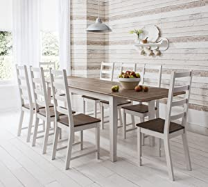 Dining Table and 8 Chairs Canterbury Extending Dining Table with 2x Extension       Customer review and more information
