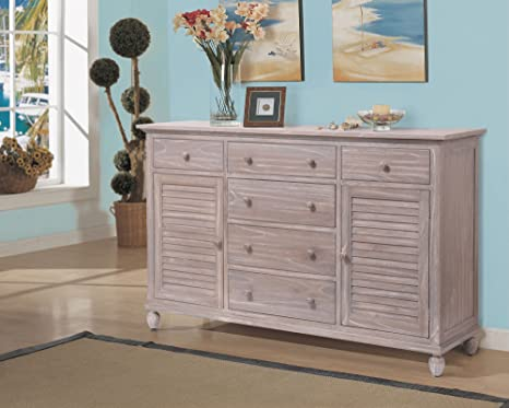 Tortuga Wood 6 Drawer, 2 Door Dresser
