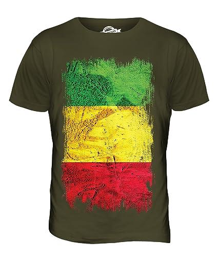 Mali Grunge Flag T Shirt