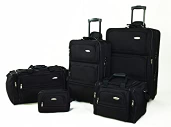Samsonite 5 Piece Nested Luggage Set, Black $87.78
