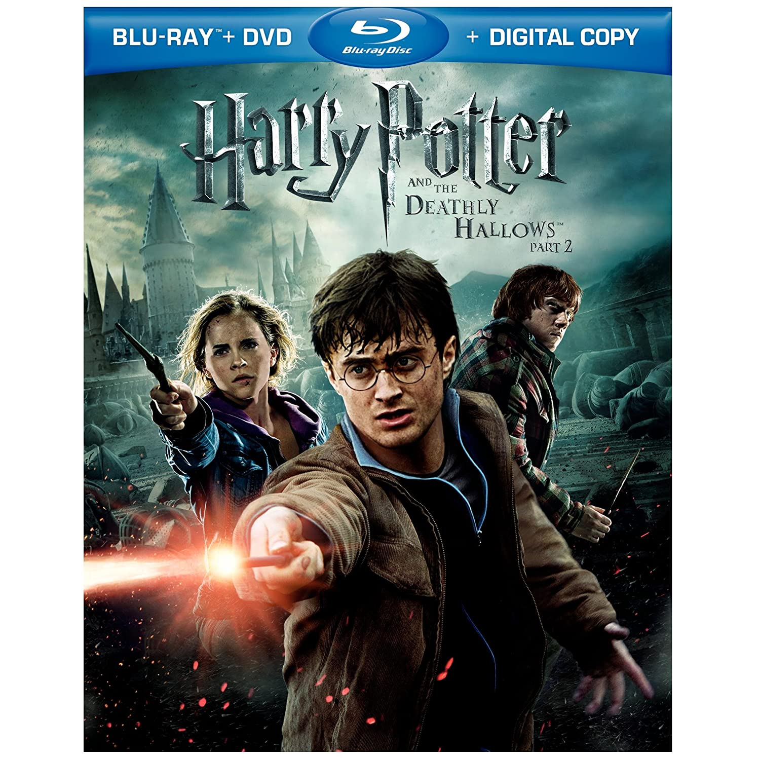 moviemaxs movie harry potter and the deathly hallows part 2 three disc blu ray movie dvd. Black Bedroom Furniture Sets. Home Design Ideas