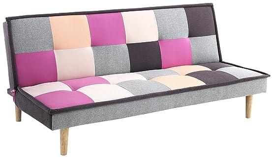 Wink Design Smart B Divano/Letto Chaise Longue, Tela, Multicolore, 90x80x180 cm