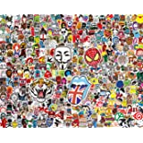 400 Stickers for Kids and Adults(100~500pcs) Vinyl Street Fashion Laptop Stickers for Water Bottles,Waterproof Cute & Cool Graffiti Decals for Computer Car Bumper Skateboard Phone Motorcycle Luggage (Color: Series A+C+D+E)