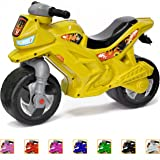 Push Bike Balance Ride-on - for Toddlers and Kids 2-5 Years Old Plastic Bike Outdoor, Indoor Stroller Toy Motorcycle 2 Wheel Walking Activity Trainer Lightweight Washable (Color: Lemon )