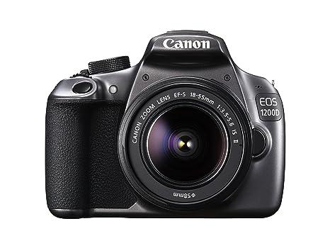 """Canon EOS 1200D Appareil photo reflex numérique Ecran LCD 3"""" (7,62 cm) 18 Mpix USB/HDMI + Objectif 18-55 mm f/3,5-5,6 IS II Gris"""