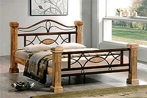 Massiv Holz Bett Holzbett ROM Natur Buche 160x200 160 Ehebett Doppelbett  Bewertungen