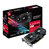 ASUS ROG Strix Radeon RX 560 16CU O4GB Gaming OC Edition GDDR5 DP HDMI DVI AMD Graphics Card (ROG-STRIX-RX560-O4G-GAMING)