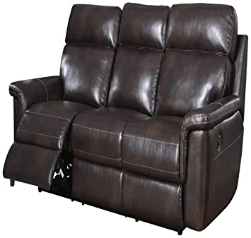 Pulaski Rollins Sofa with Power Choc Bonded Leather