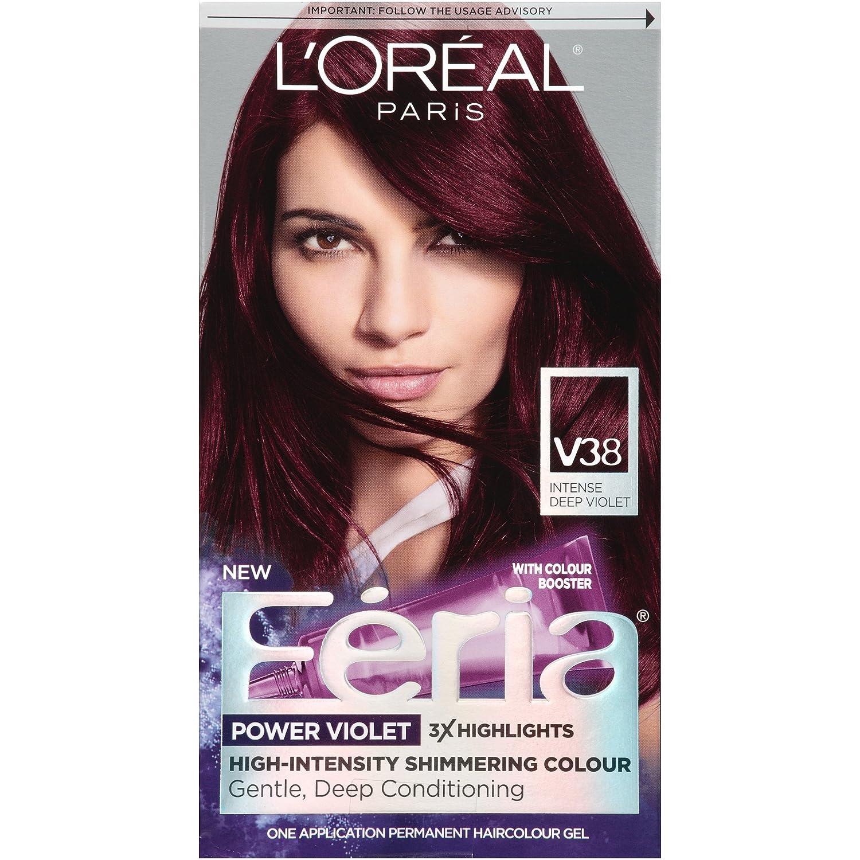 l oreal paris hair color feria power dye violet noir v38 - Coloration L Oreal Caramel