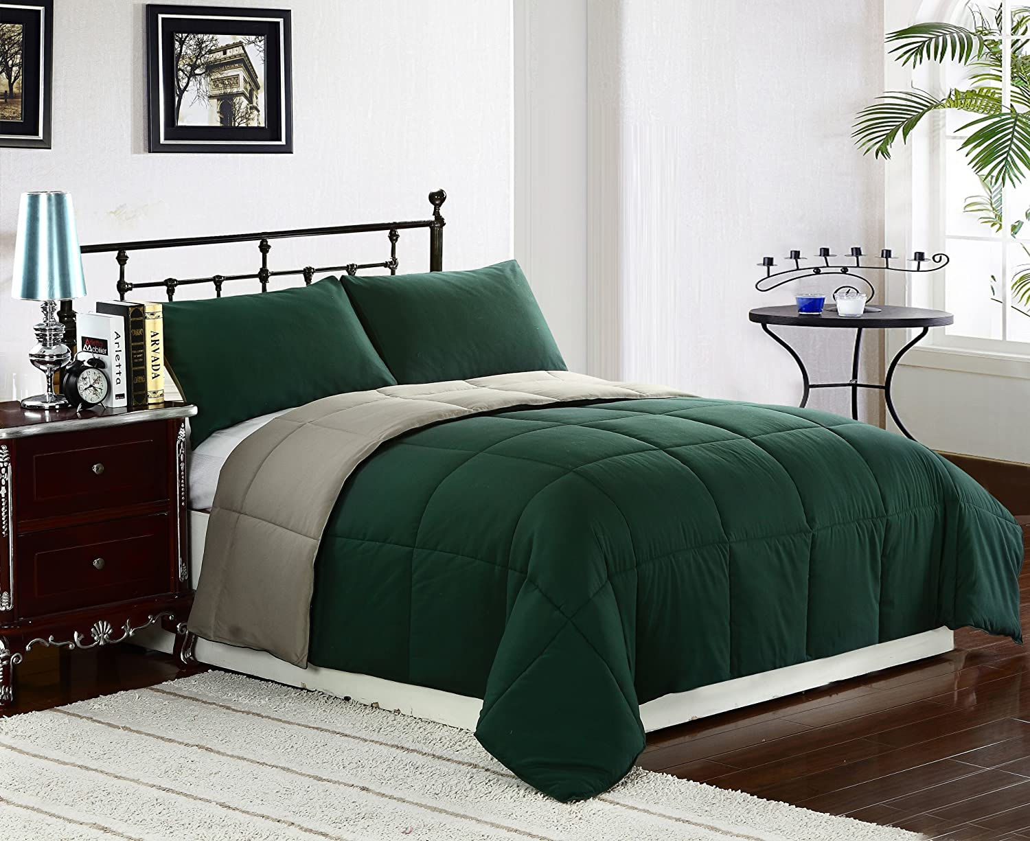Sage olive and hunter green bedroom decorating ideas seekyt for Bedroom ideas olive green