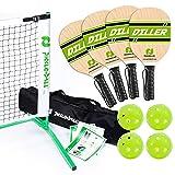 Pickle-Ball, Inc. Pickleball Diller Tournament Net Set (Set Includes Metal Frame + Net + 4 paddles + 4 balls + Rules Sheet in Carry Bag)