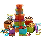 Broadway Basketeers Gift Tower, Happy Birthday Celebration (Color: Happy Birthday Celebration, Tamaño: 4 Pound)