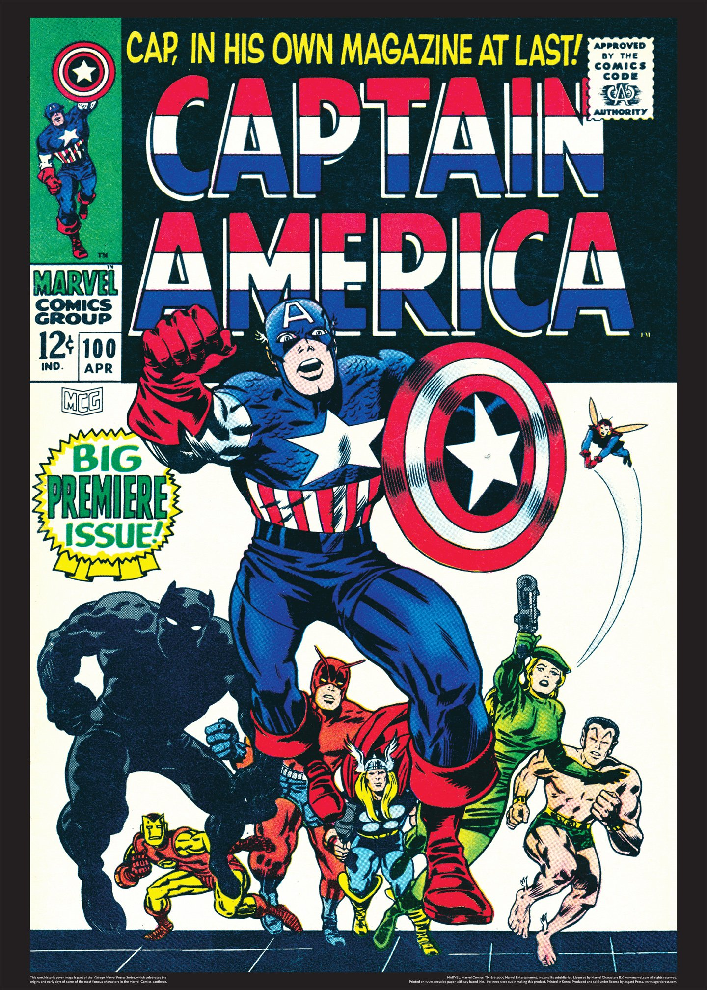 Captain America Comics 100 Captain America 100 Vintage