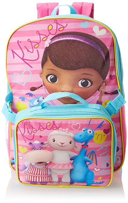 Disney Little Girls' Doc Mcstuffins Backpack with Lunch Set