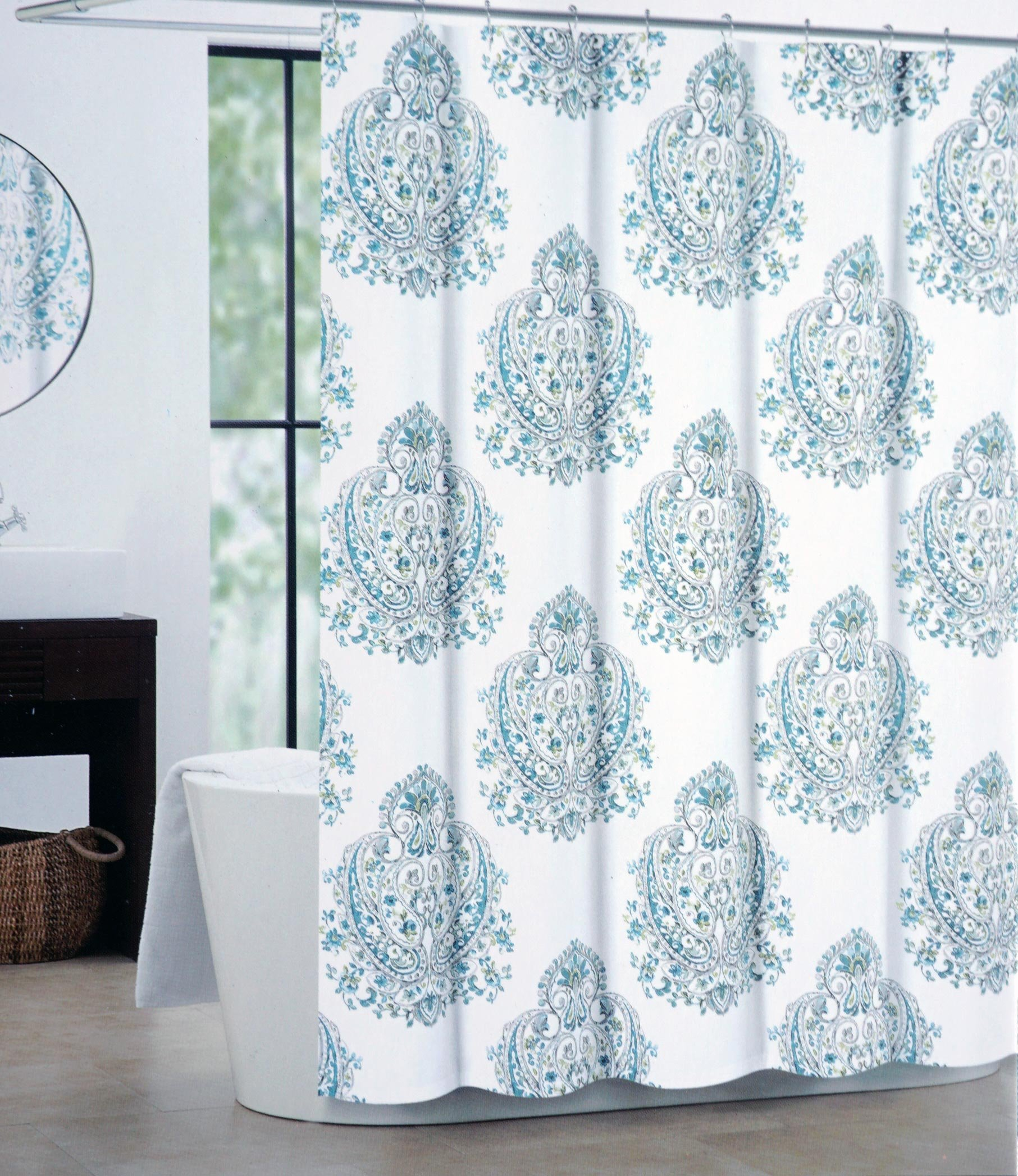 Tahari Fabric Shower Curtain