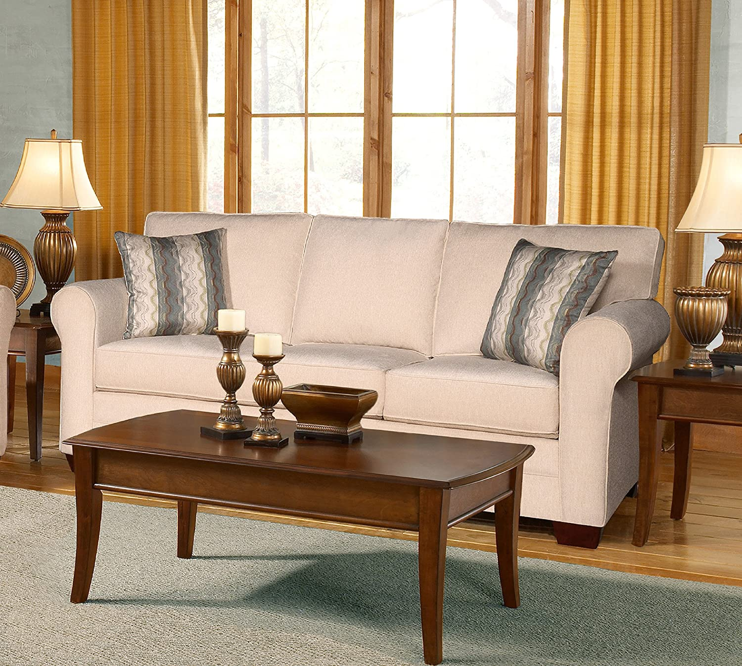 Chelsea Home Furniture Vicki Sofa - Sagittarius Pearl/Wow Spa Pillows