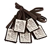 Brown Scapular Mt. Carmel 100% Wool Made in USA Handmade Quality (5 Pack) (Color: brown, Tamaño: 5)