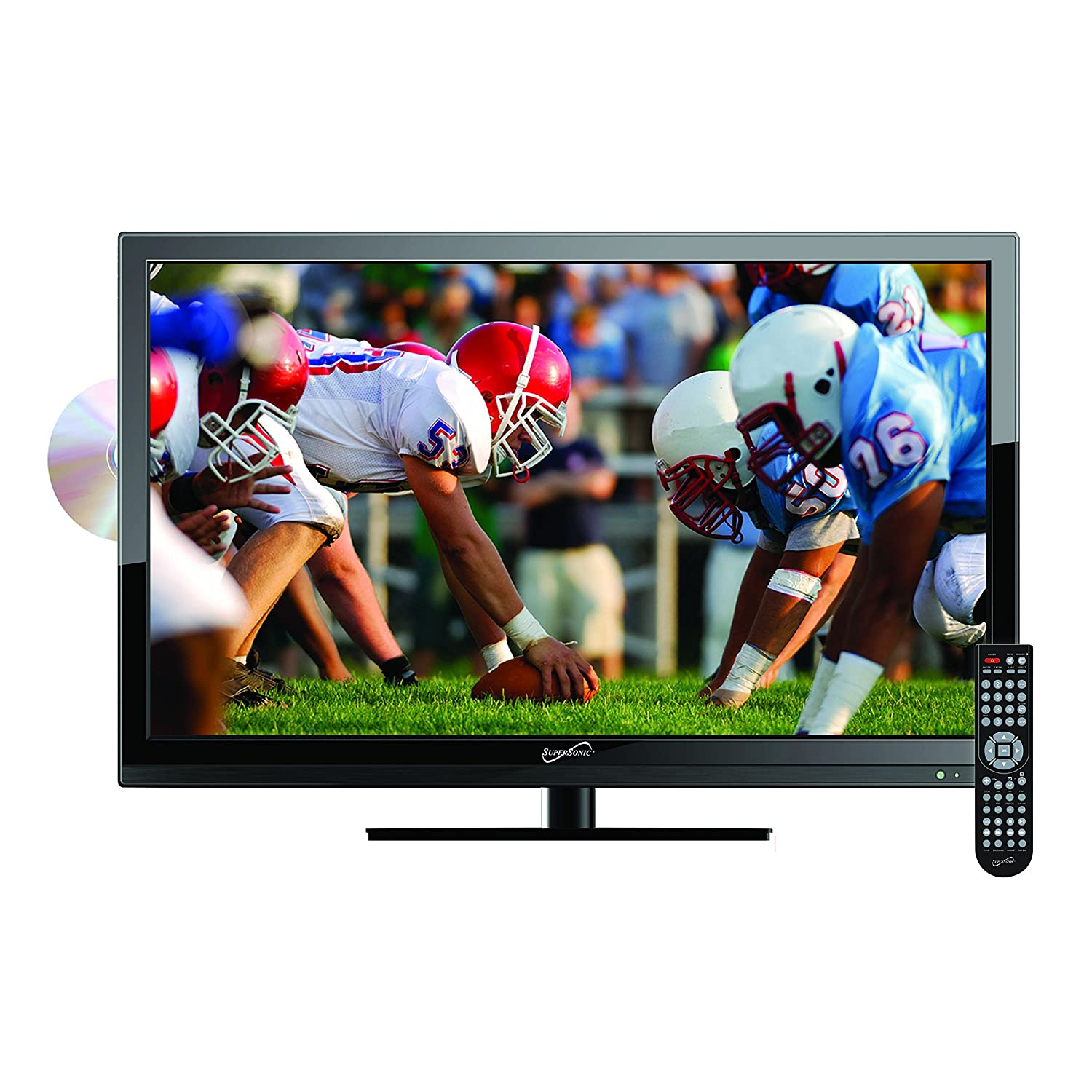 SuperSonic 19-Inch 1080p LED Widescreen HDTV HDMI with Built-in DVD Player, AC/DC
