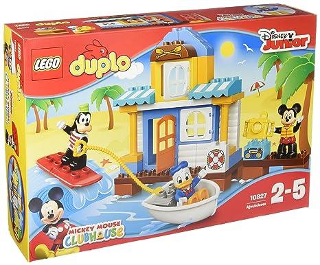 LEGO - 10827 - DUPLO - Jeu de Construction - La Maison à la Plage de Mickey et Ses Amis