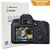 Canon EOS 6D LCD Tempered Glass Screen Protector, Poyiccot Optical 9H Hardness 0.33mm Ultra-Thin DSLR Camera Tempered Glass for Canon EOS 6D