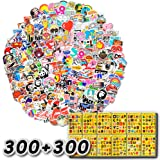 600-Pcs The Double-Satisfied Enhanced Version Of The Sticker ( 600 Pcs ), Doubled The Satisfaction. Lead Time Only 1-2 Days. Vinyl Stickers Are Suitable For Laptops, Cars, Motorcycles, Bicycles, Skateboards, And Luggage. (Double Reinforcement) (Tamaño: 300+300Pcs Double Satisfied)