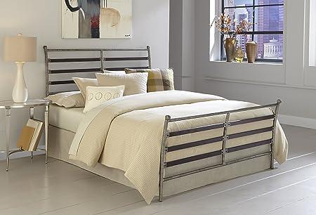 Leggett & Platt Fashion Bed Group Metal Element Bed, Rustic/Cherry, King