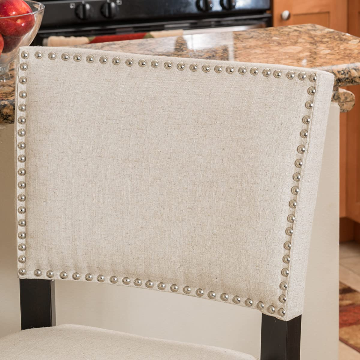 Denise Austin Home William Fabric Backed Barstool (Set of 2)