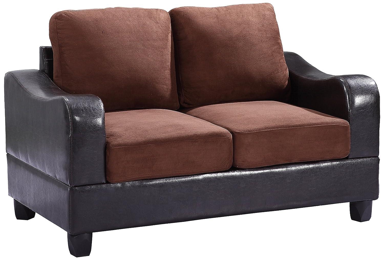 Glory Furniture G626-L Living Room Love Seat - Chocolate