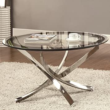 Coaster Home Furnishings 702588 Contemporary Coffee Table, Chrome