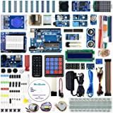 REXQualis for Arduino UNO R3 Complete Starter Kit w/UNO R3 Development Board, Real Time Clock, Water Lever Sensor, RC522 RFID Module, MQ-2 Gas, Detailed Tutorial (Color: 3)UNO R3 Most Complete Kit)