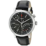 Timex Unisex TW2P81700 Metropolitan+ Activity Tracker Watch with Black Leather Strap (Color: Black/Silver-Tone)